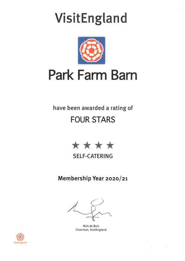 Park Farm Barns 4 Stars